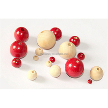 Environmental Painted Colourful Cheap Kids DIY Wooden Beads