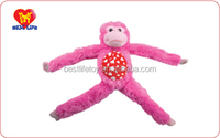 Hot selling custom baby toys plush soft monkey doll baby toy laughing doll (PTWA01150024)