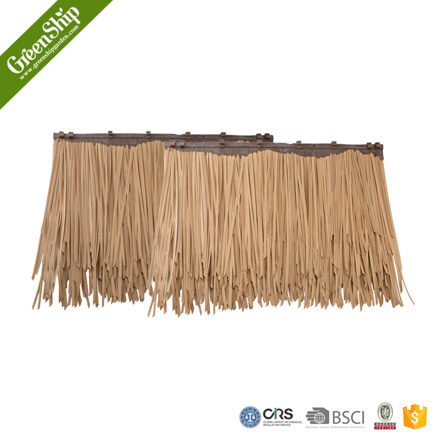 artificial straw roof covering flexibility plastic thatch roof
