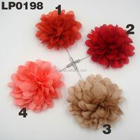 2016 New design fashion large fabric flower lapel pins for women dress