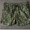 high fashion green printed with belt for men shorts