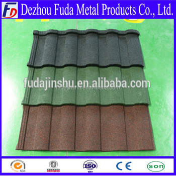 Color Stone coated steel roofing tiles with SONCAP certificate