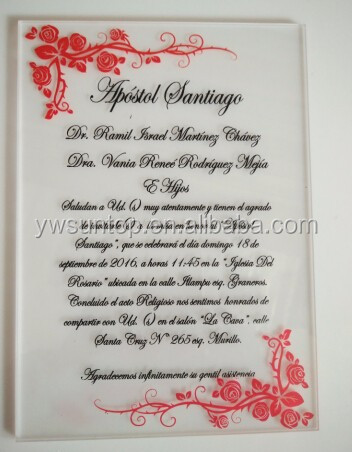 Hot Sale Personalized Printed Acrylic Wedding Invitation Card Custom Invitation Card