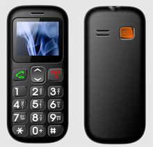SOS One key emergency call optional Cradle Big Button Dual SIM Senior Mobile Phone with Torch,
