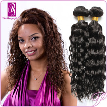 Genuine 12 inch wet and curly hair extension indian remy Hair Weave extensions