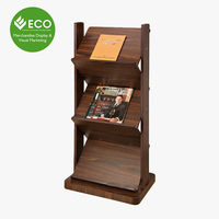 New Design 3 Tier Wood Display Riser For Magazine Display Used In Book Store