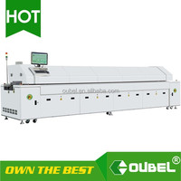 Factory price Economical Hot air LED wave SMT Reflow Oven 6 zones / 8 zones for LED mount soldering