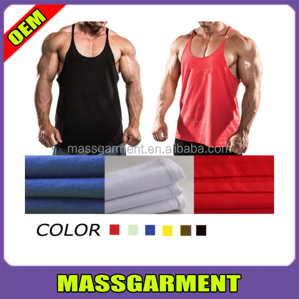 Mens Stringer Bodybuilding Solid Gym Singlet Wholesale Mens Tank Top