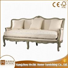 Restaurant cum bed antique curved party 3 seater sofa