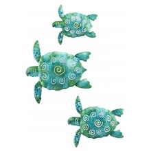 Nautical wall mounted metal sea turtle wall decor