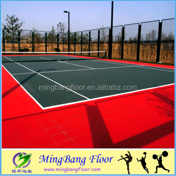Portable athletic PP badminton/basketball flooring in stock
