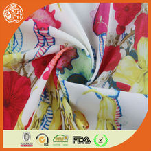 Fashion new digital style heat transfer printed floral chiffon fabric 75d chiffon with 2800 twists for ladies garment