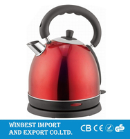 High Capacity Temperature Controlling Red Electric Kettle