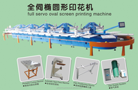 t shirt 12 colors automatic full servo oval silk screen printing machine for sale