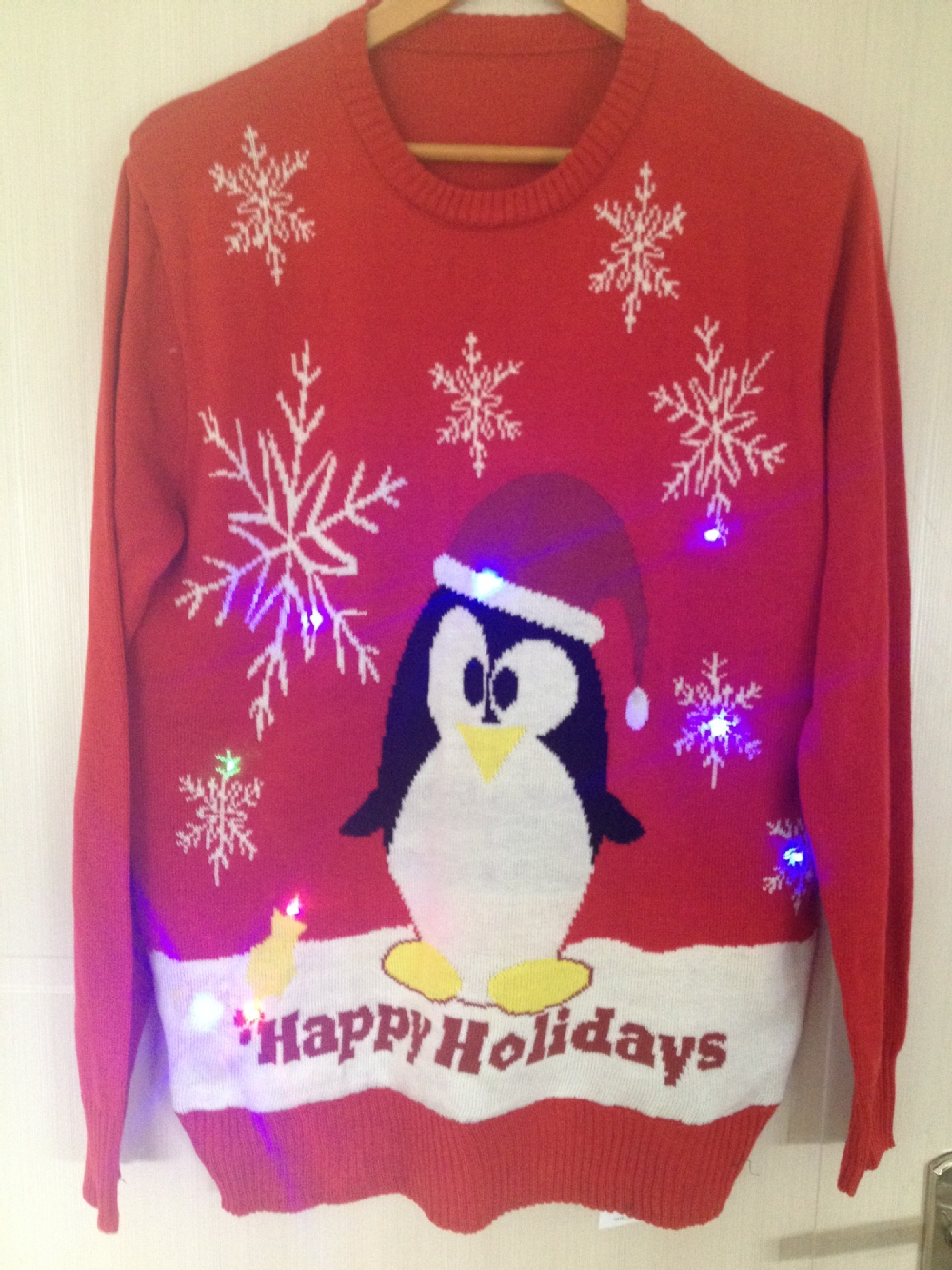 15CSL003 cheap penguin led light sweater for Christmas Christmas sweater