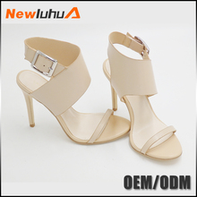 2017 new design fashion high heels handmade leather sandals