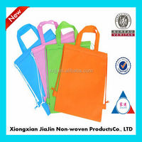 2014 cheap reusable non woven drawstring backpack bags China wholesale