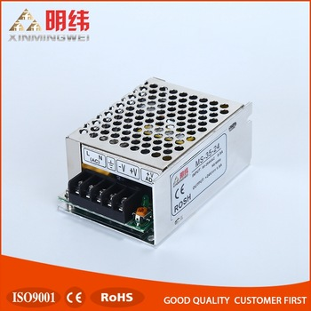 Small SIZE MS-35-24 CE ROHS approved 35w power supply, 24volt dc regulated power supply