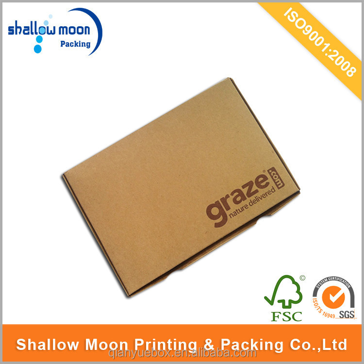 Custom corrugated cardboard printed foldable mailer carton box.