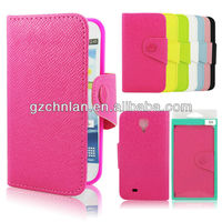 2015 New Stylish book style mobile phone leather case for Samsung Galaxy S4 leather phone case