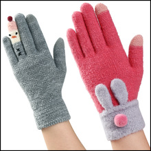 Wool Knitted Five Finger Gloves Winter Touch Screen Gloves Winter Warm Gloves Wholesale