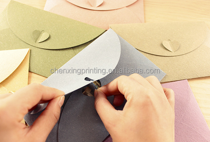 button envelopes for party and wedding with yellow green black white red pink colour