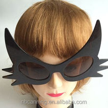 party glasses / hot sell novelty sunglasses /cat shaped fancy party glasses