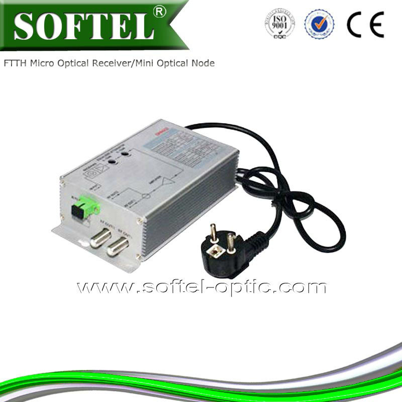 Latest network devices 2-way output FTTH CATV Optical Receiver