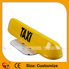Hot sell yellow PP plastic taxi led neon sign