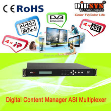 DIBSYS' Digital tv headend with 4 channel ip and asi in ,2 asi + 4 ip output ip-asi Converter/Adapter,MUX