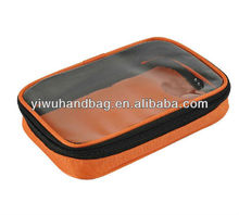 clear plastic zippered storage bag for travel