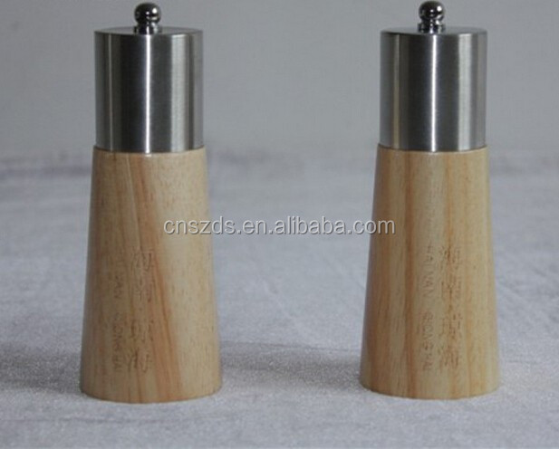 Salt and Pepper Hand-Operated Wooden Pepper Grinder Mill Manual Food Mill