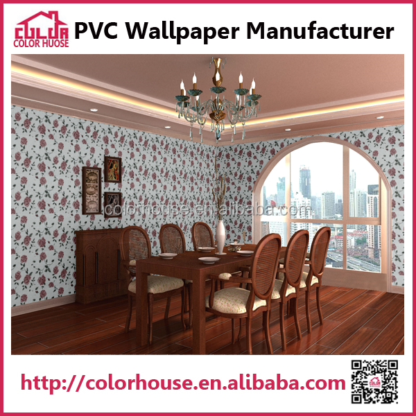 chinese self-adhesive flower embossed wallpaper suppliers