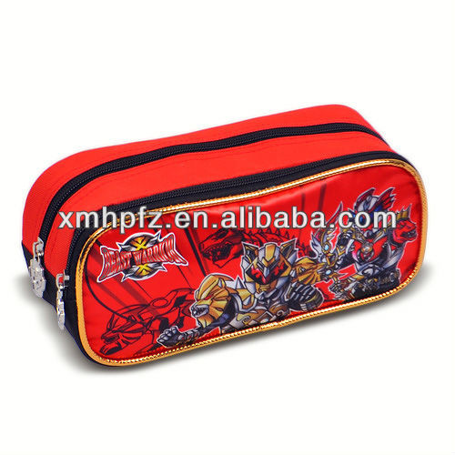 polyester pencil case with compartments