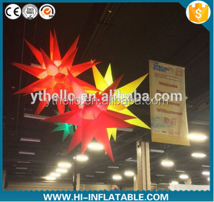 Wedding Decoration Hanging Inflatable led Lighting Inflatable Star