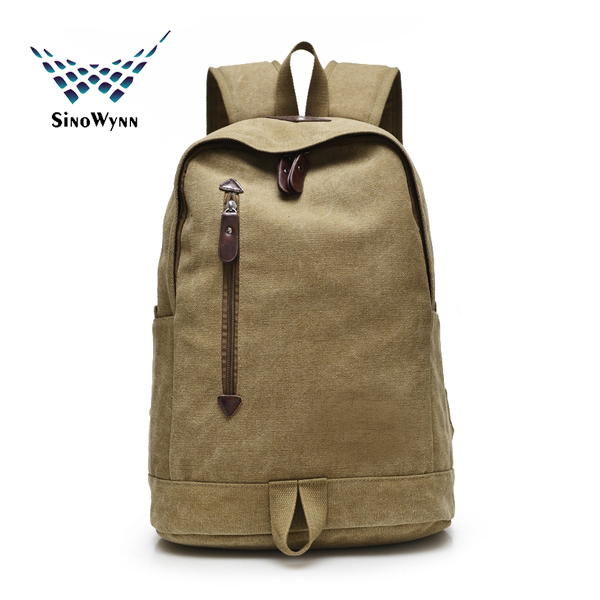 2016 fashion canvas backpacks for teenages