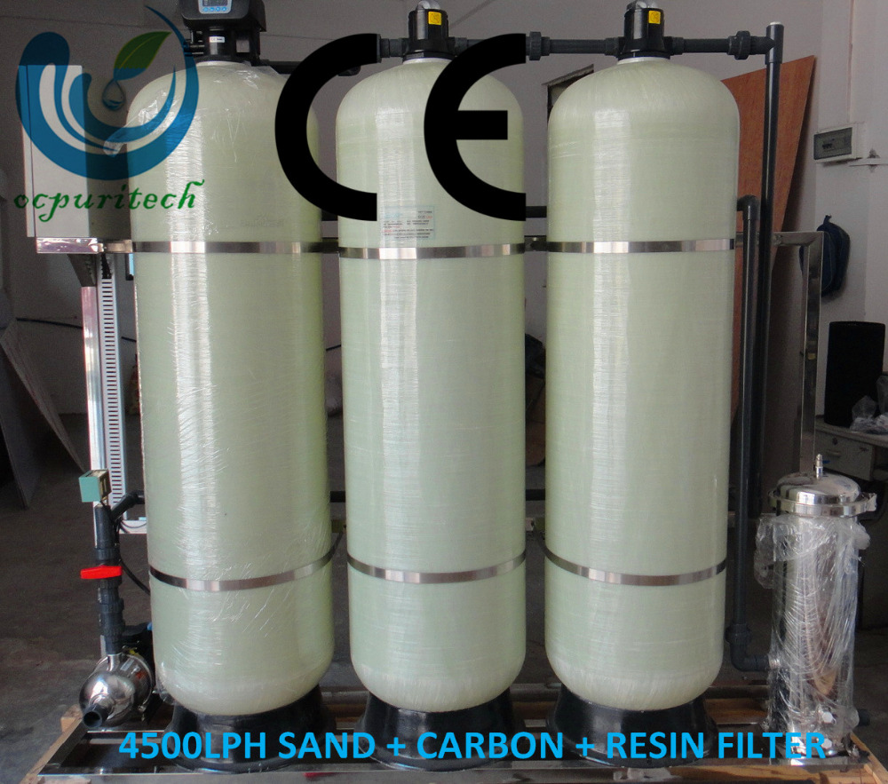 4500lph sand /carbon/resin industrial big water filter for water treatment