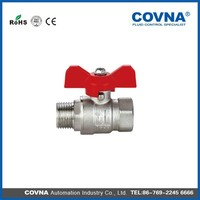 Hot sale butterfly handle male/female threads Ball valve