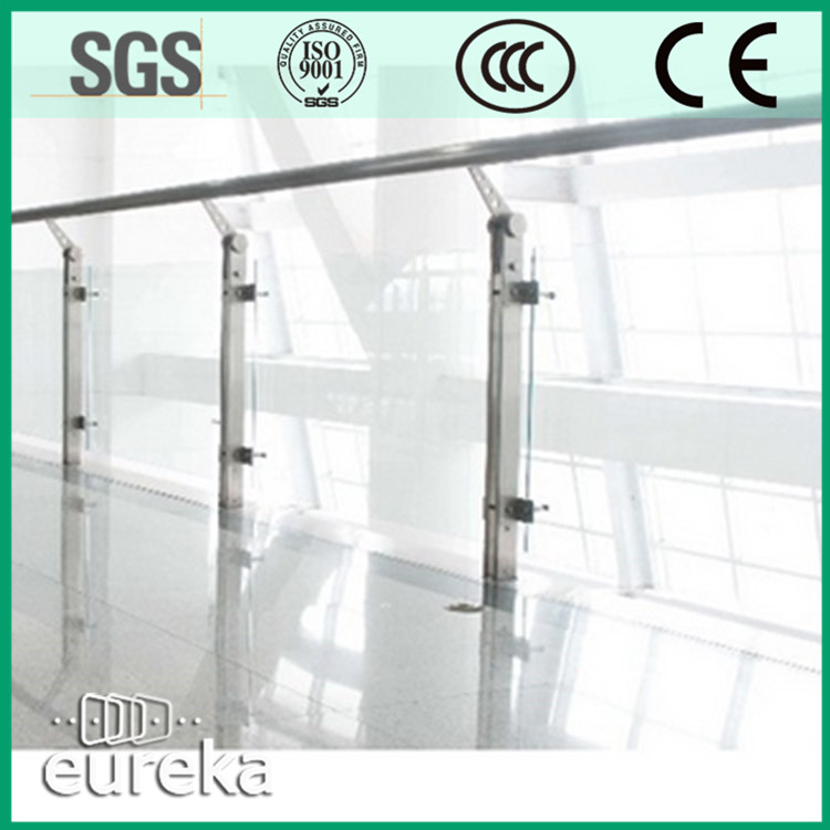 Most welcome design decorative frameless glass interior railings