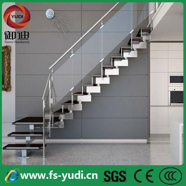tico indoor l forma de acero escaleras de cristal de madera fabrica
