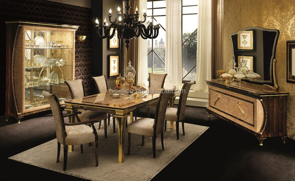 solid wood dining room set italian classic inlay dining room furniture