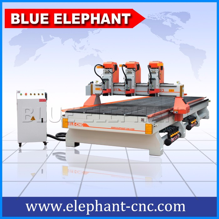 Discounted Price !! Jinan 1530 ATC 4 axis cnc router , cnc wood router engraving machine for mold , door , cabinet , cylinder