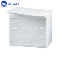 Credit card size blank plain white CR80 30mil pvc id card