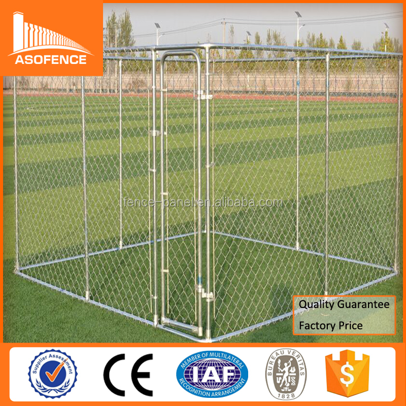 Chain Link 10x10x6 foot galvanized outdoor dog crate wholesale