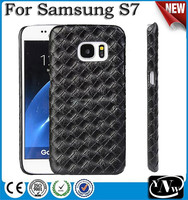 Real Plain Weave Carbon Fiber Phone Cover Case For Samsung Galaxy S7 Edge