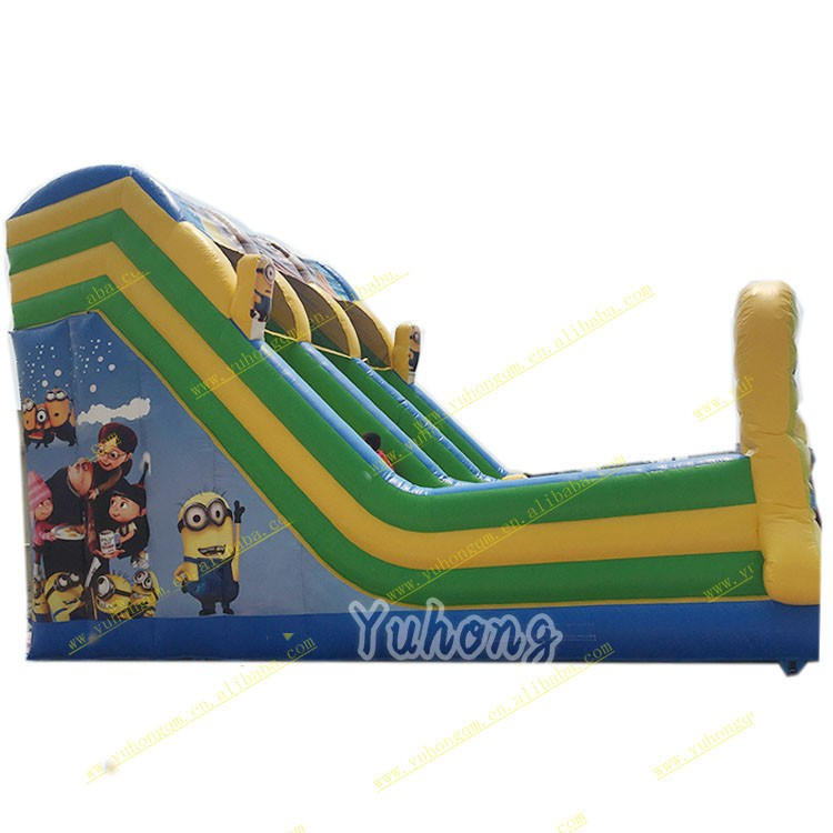 Hot sale dry inflatable slide with high quality and good price/castle inflatable slide with bwautiful priting