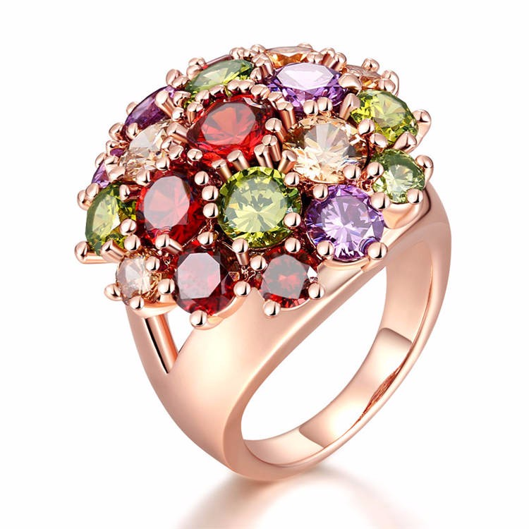 Factory direct colorful zircon <strong>stones</strong> 2016 latest gold finger ring designs