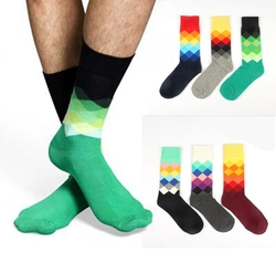 6 Colors Unisex Sport Colorful Happy Socks