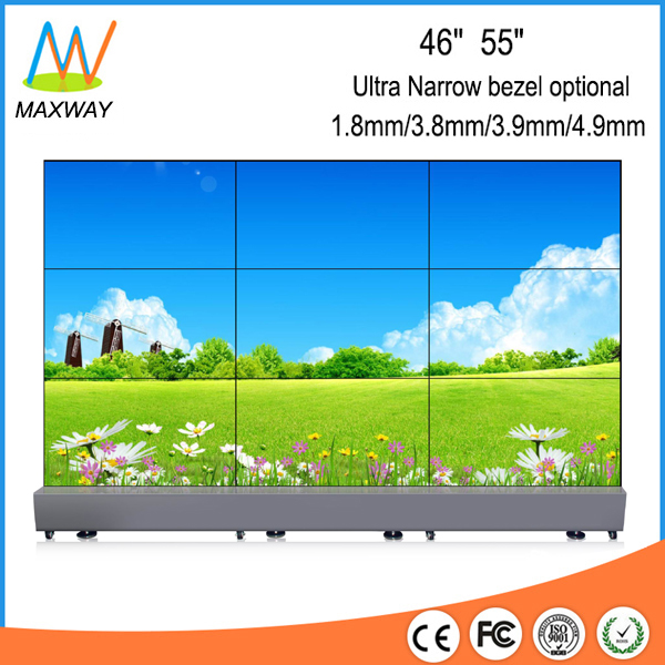 55 Inch Ultra Narrow Bezel Hdmi 3x3 Lcd Video Wall Display With Controller