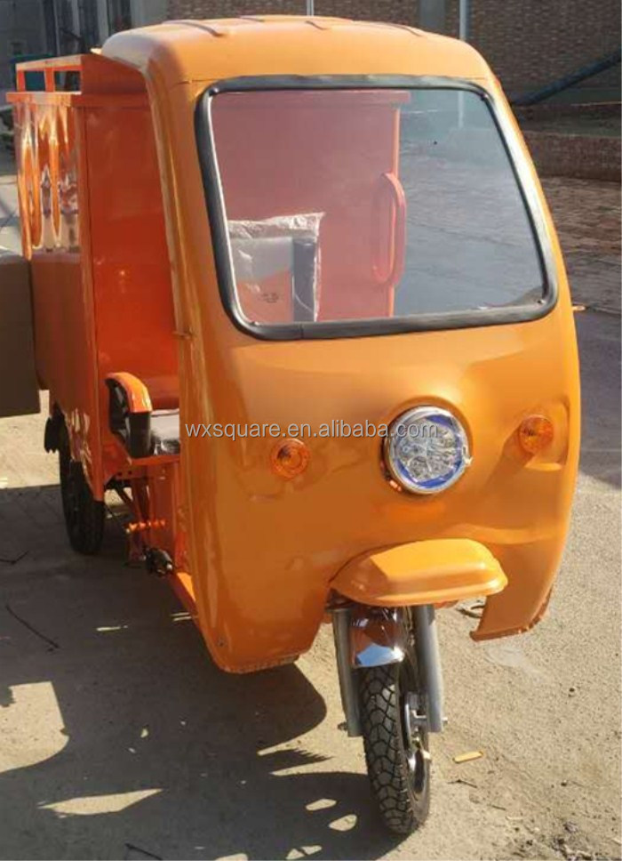 cargo tricycle with cabin electric delivery rickshaw/trike/tuk tuk/pedicab